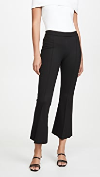 Pull On Cropped Flare Pants