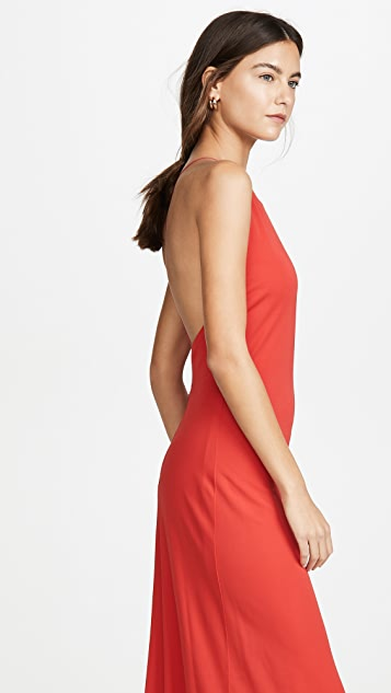 Rosetta Getty Cross Back Bias Slip Dress
