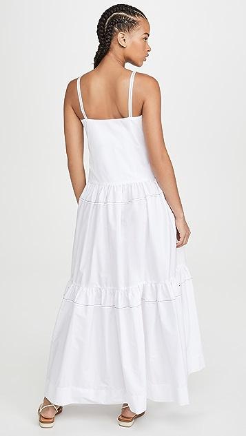 Rosetta Getty 褶皱荷叶边连衣裙