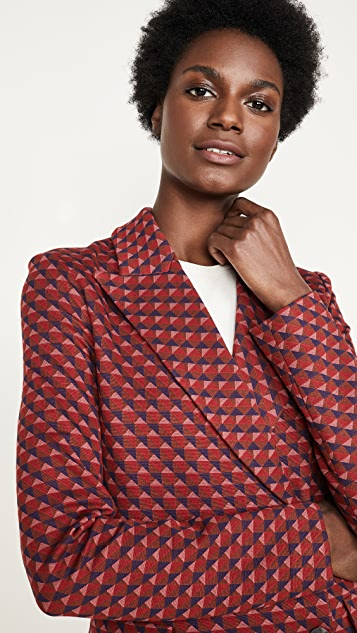 Rosetta Getty Double Breasted Peak Lapel Jacket