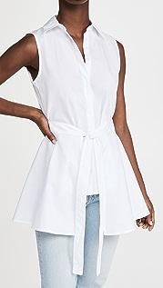 Rosetta Getty 无袖围裙式裹身款式衬衫