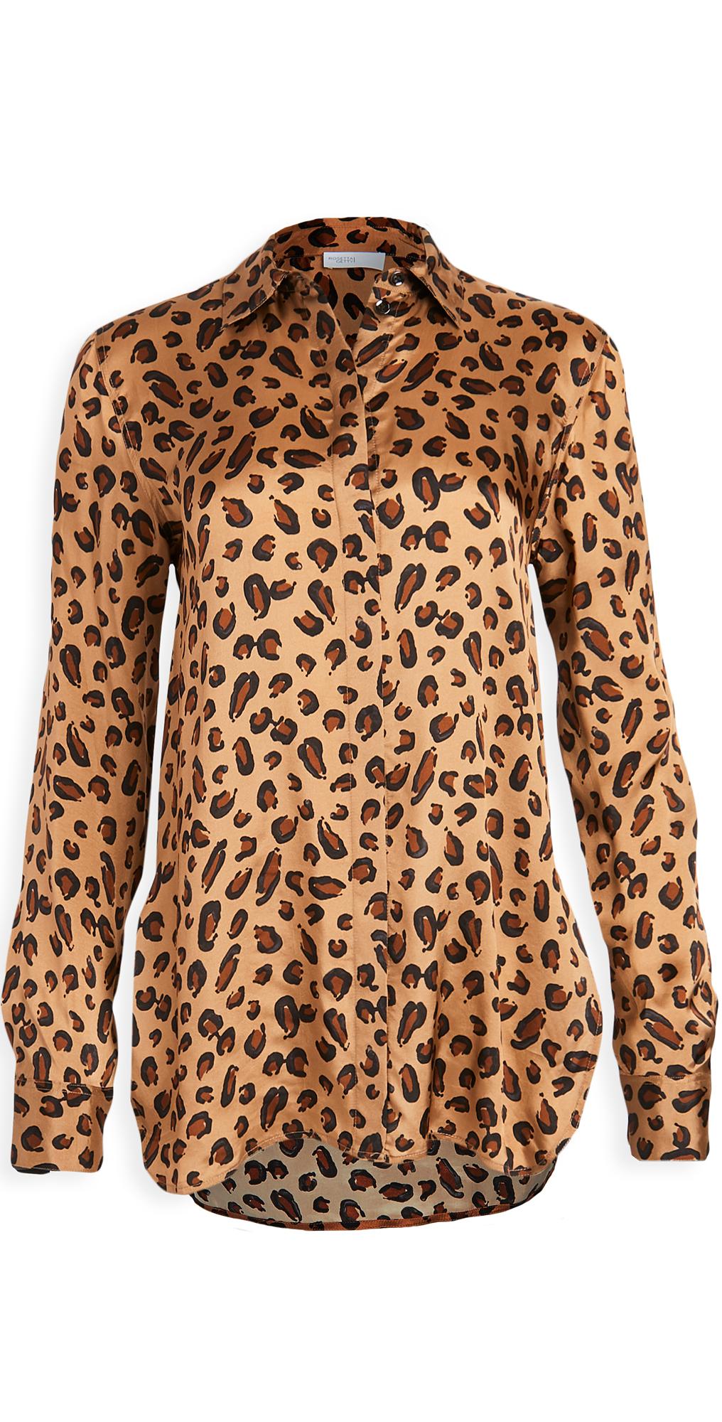 Rosetta Getty Relaxed Shirt Leopard