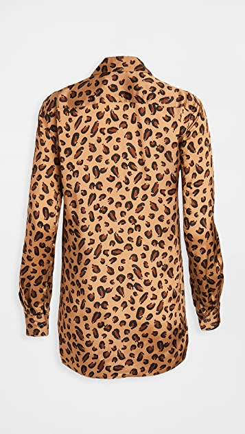Rosetta Getty Relaxed Shirt Leopard