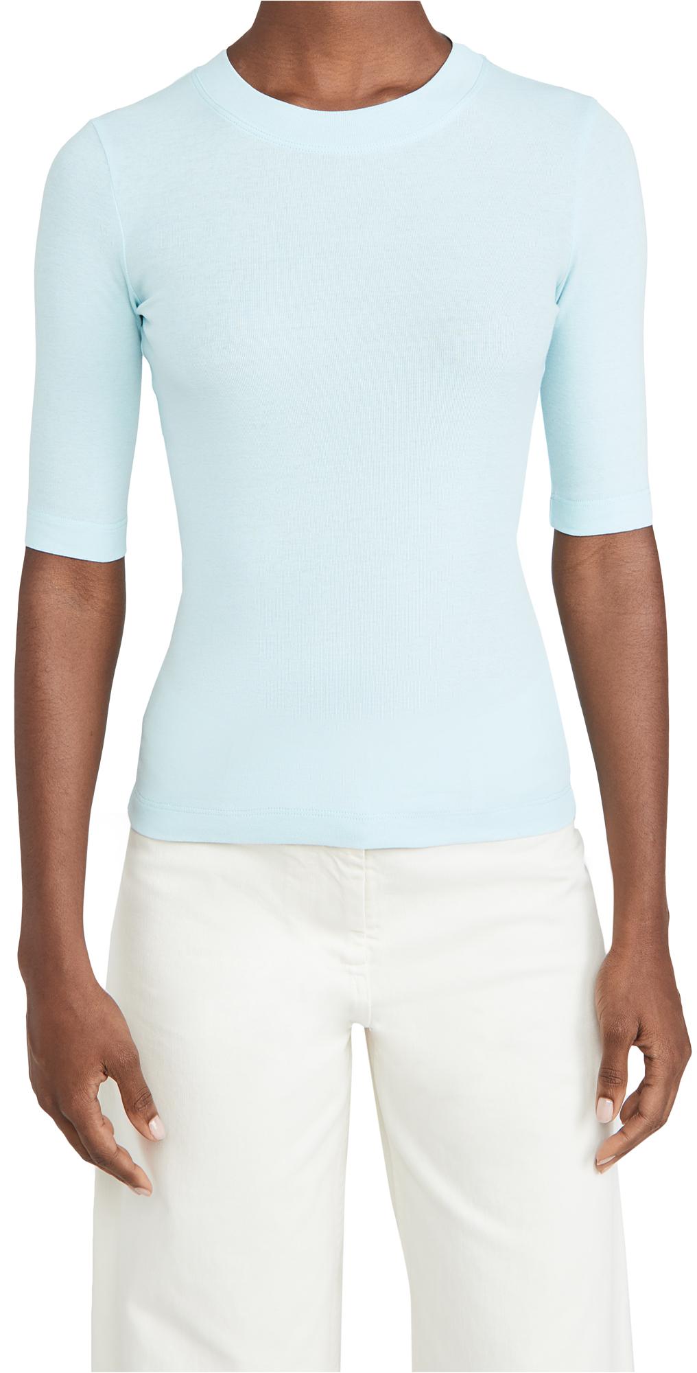 Rosetta Getty Cropped Sleeve T-Shirt