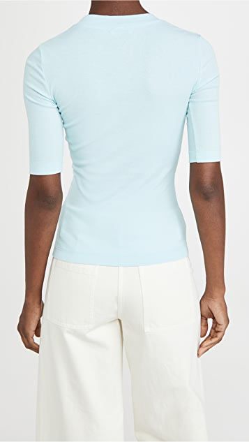 Rosetta Getty Cropped Sleeve T-Shirt