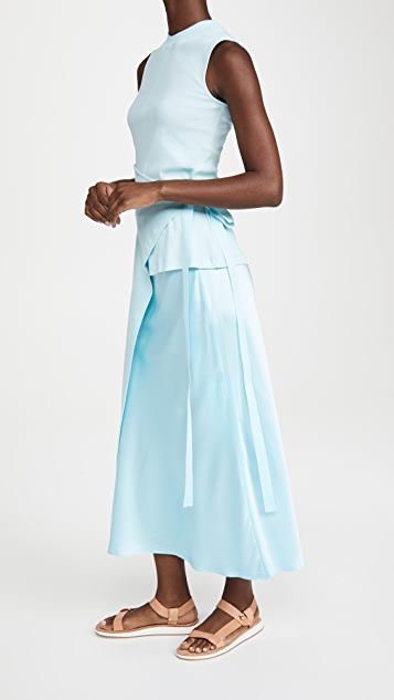 Rosetta Getty 无袖开衩围裙式 T 恤