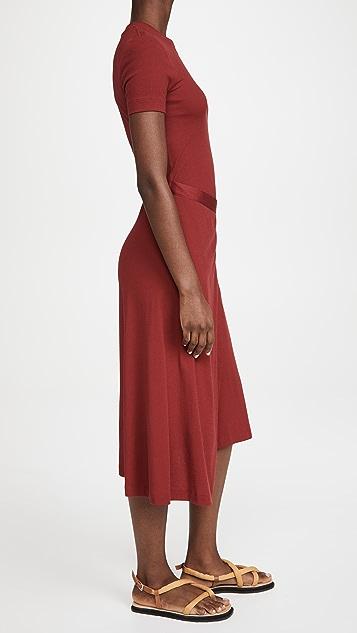 Rosetta Getty Short Sleeve Apron T-Shirt Dress