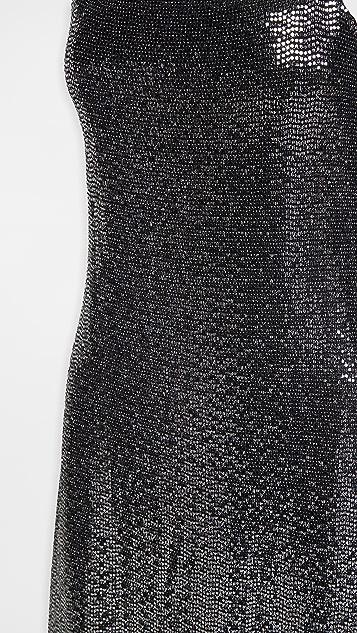 Rosetta Getty 亮片吊带连衣裙