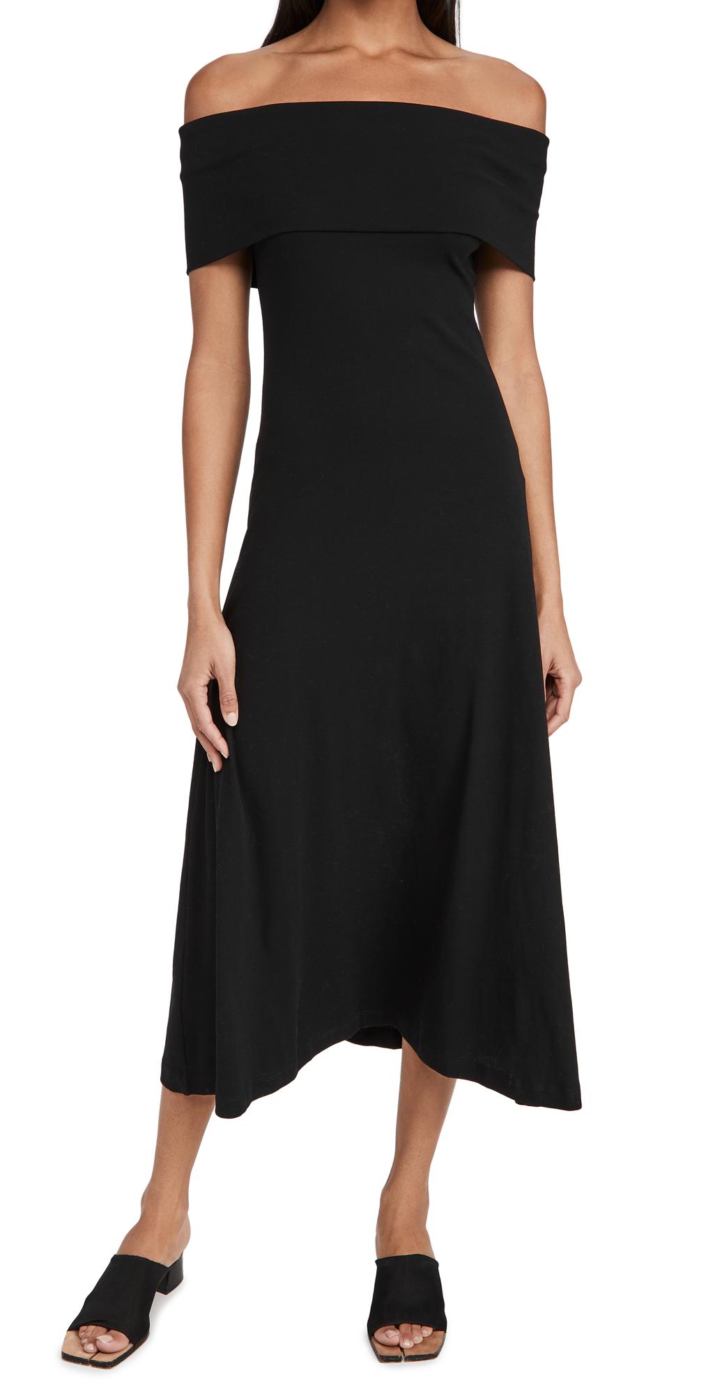 Rosetta Getty Sleeveless Banded Off Shoulder Dress