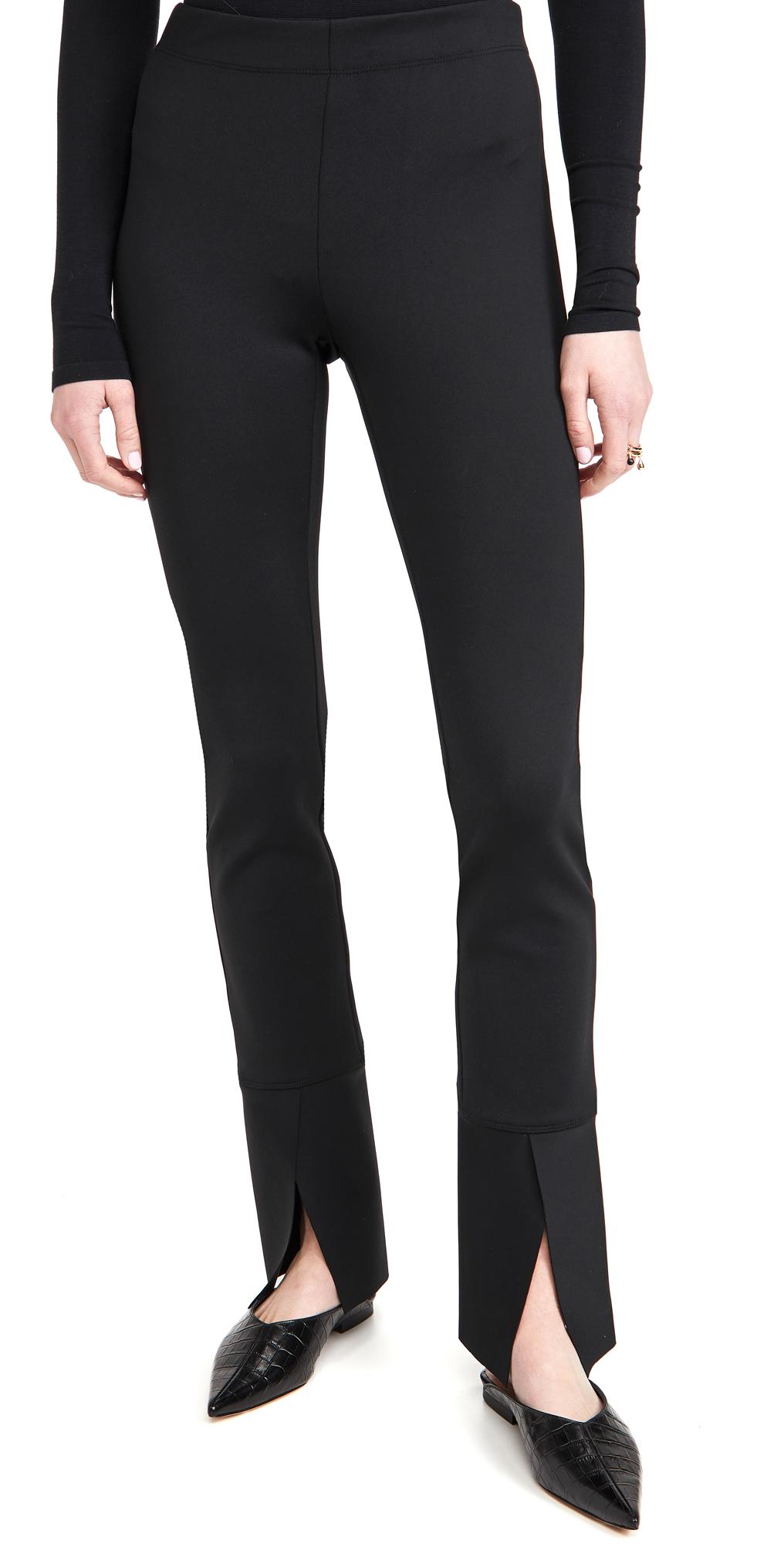 Rosetta Getty Pull On Skinny Split Cuff Pants