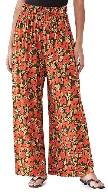 Rosetta Getty 褶皱腰部裙裤