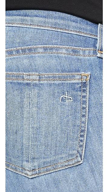 Rag & Bone/JEAN Mid Rise Skinny Jeans