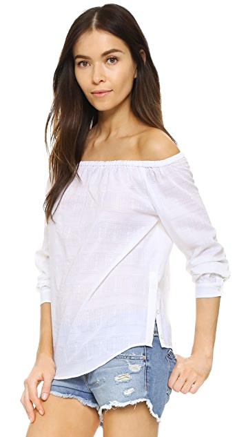 Rag & Bone/JEAN Off Shoulder Shirt