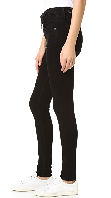 Rag & Bone/JEAN Lace Up Skinny Jeans