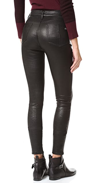 Rag & Bone/JEAN High Rise Lace Up Leather Pants