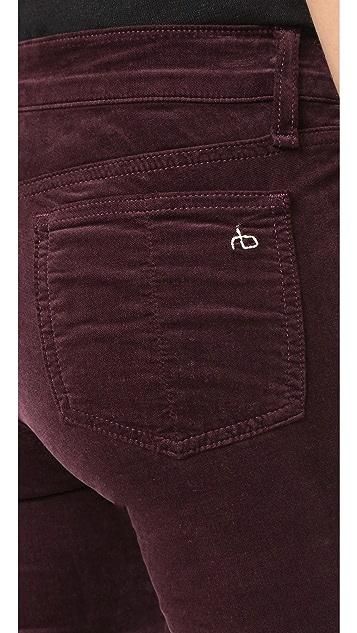 Rag & Bone/JEAN Skinny Velour Jeans
