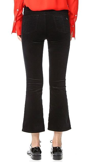 Rag & Bone/JEAN Velvet Cropped Flare Jeans