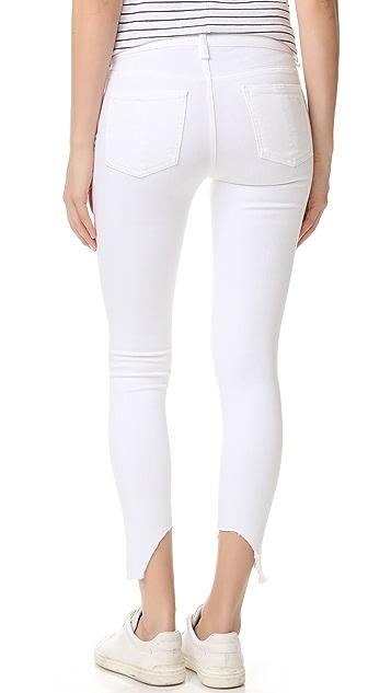 Rag & Bone/JEAN The Capri Jeans with High Low Hem