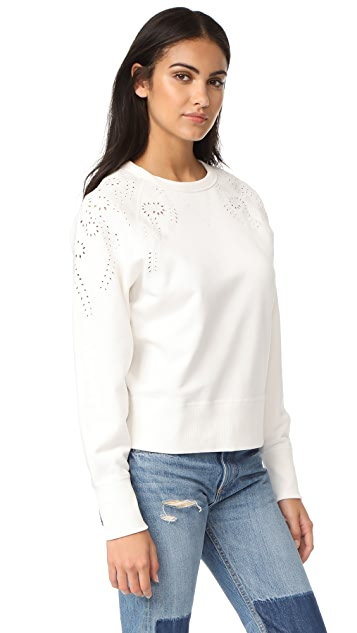 Rag & Bone/JEAN Eyelet Sweatshirt
