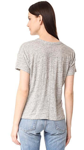 Rag & Bone/JEAN Palm Embroidery Tee