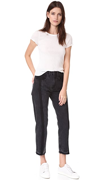 Rag & Bone/JEAN Two Tone Crop Jeans
