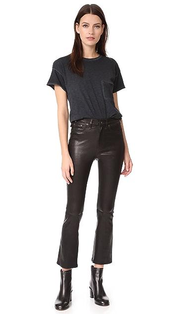 Rag & Bone/JEAN The Hana High Rise Cropped Leather Pants