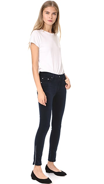 Rag & Bone/JEAN Velvet Ame Zipper Capri Jeans