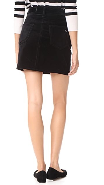 Rag & Bone/JEAN Velvet Dive Skirt