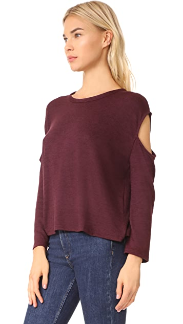 Rag & Bone/JEAN Slash Long Sleeve Top