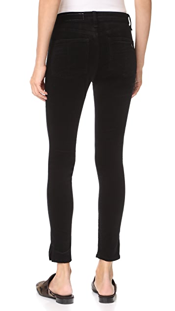 Rag & Bone/JEAN High Rise Skinny Velvet Ankle Pants