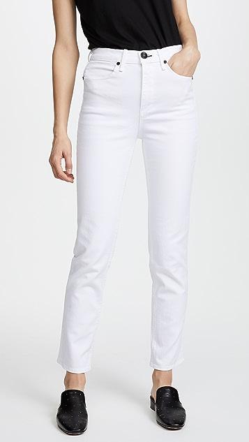 Rag & Bone/JEAN Cigarette Jeans - White