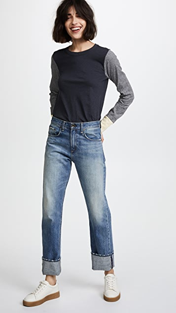 Rag & Bone/JEAN Panel Long Sleeve Tee