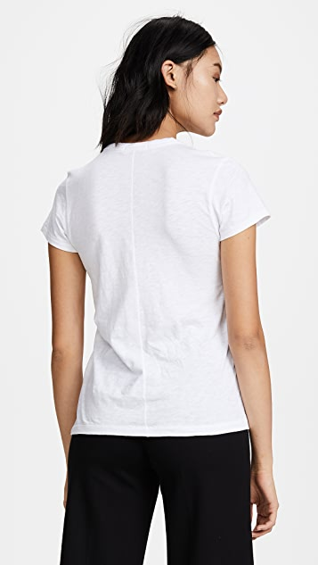 Rag & Bone/JEAN Tee With Bolt Embroidery