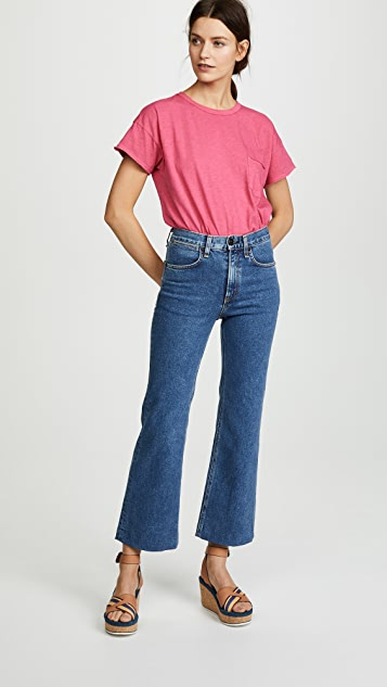 Rag & Bone/JEAN Vintage Crew with Pocket Tee