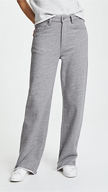 Rag & Bone/JEAN Justine Wide Leg Sweatpants