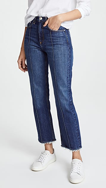 Rag & Bone/JEAN The Ankle Straight Leg Jeans - Dagmar