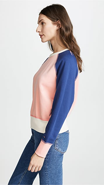 Rag & Bone/JEAN Colorblock Raglan Sweatshirt