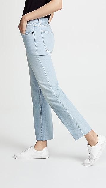 Rag & Bone/JEAN Ankle Straight Leg Jeans