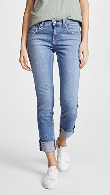 Rag & Bone/JEAN The Cuffed Dre Slim Boyfriend Jeans