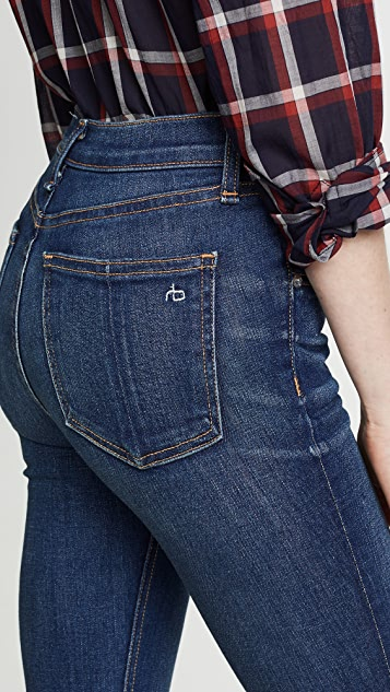 Rag & Bone/JEAN Hana High Rise Cropped Jeans