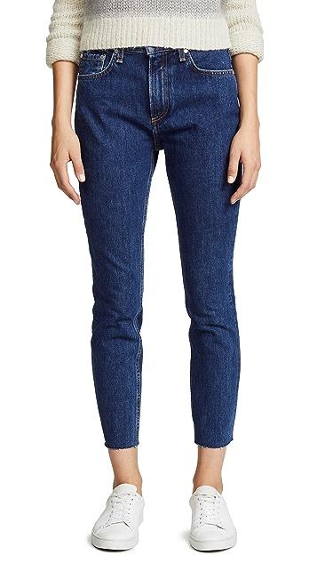 Rag & Bone/JEAN Плотные джинсы-скинни с высокой посадкой