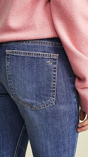 Rag & Bone/JEAN Облегающие джинсы-бойфренды Ankle Dre