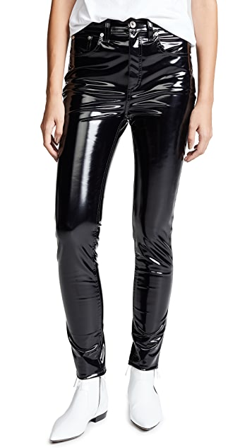 Rag & Bone/JEAN High Rise Vinyl Skinny Pants