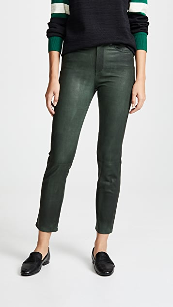 Rag & Bone/JEAN Ankle Leather Cigarette Pants