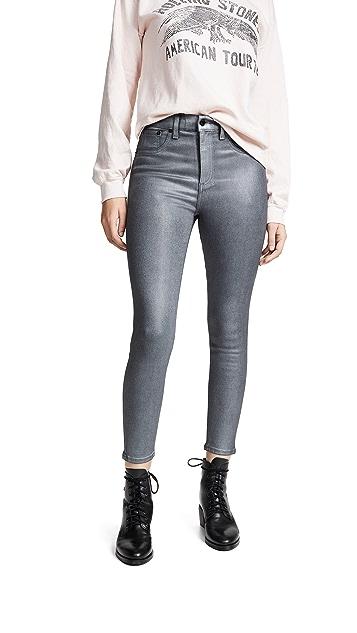 Rag & Bone/JEAN High Rise Coated Ankle Skinny Jeans