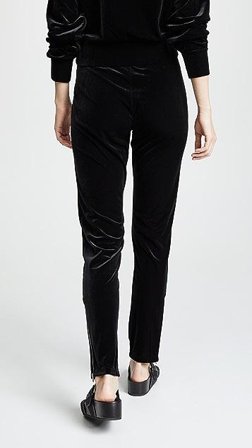 Rag & Bone/JEAN Velvet Zip Track Pants