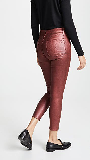 Rag & Bone/JEAN High Rise Coated Ankle Skinny Jeans
