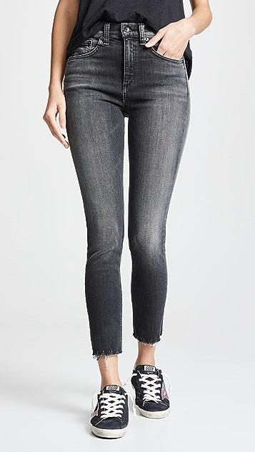 Highrise Ankle Skinny Jeans by Rag & Bone/Jean