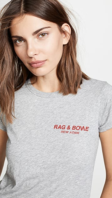 Rag & Bone/JEAN RB Logo Tee