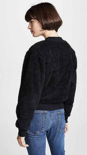 Rag & Bone/JEAN Пуловер Teddy с отделкой из искусственного меха
